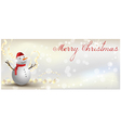 Christmas banner snowman vector image