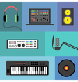 MusicProduction2 vector image