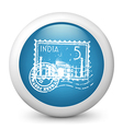 India Postage glossy icon vector image vector image