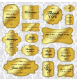 Gold wedding label set vector image vector image