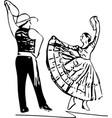 couple dancing vector image vector image