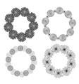 hand drawn doodle frames decorative elements vector image