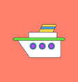 flat icon design collection ship silhouette vector image