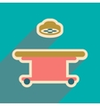 Icon of operating table in flat style vector image