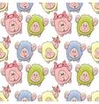 Sheep seamless pattern vector image