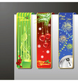 a set of christmas banners vector image