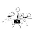 conceptual cartoon of businessman individuality vector image