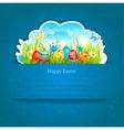 Easter blue background vector image