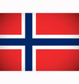 National flag of Norway vector image