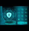 security access concept vector image