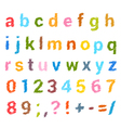 Sketched alphabet set vector image