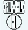 Three pencil sharpeners vector image