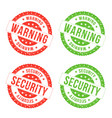 warning and security seals vector image