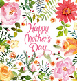Watercolor flowers cards vector image