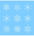Set of beautiful snowflakes for christmas vector