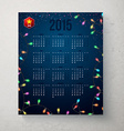 2015 year calender Blue backdrop with garland vector image