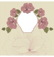 Floral background in retro with frame vector image