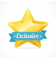 Exclusive star label vector image