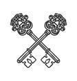Crossed Keys isolated on white background vector image