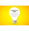 Bulb lamp light idea background vector image
