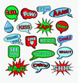 comic speech bubbles chat communication shapes vector image