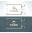 Entry cinema ticket in modern flat design vector image