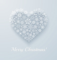 Heart made from snowflakes vector image