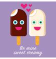 Ice Cream Valentine vector image