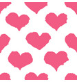 ink brush drawn heart pattern vector image