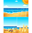Scenes with beach and ocean vector image