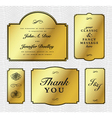 Gold foil frame set vector image