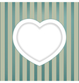 heart retro background vector image vector image