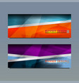 Web banner template design vector image