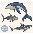 Sea Animals set 2 vector image
