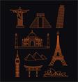 World Landmarks vector image