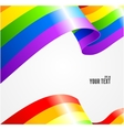 rainbow flag waving on white vector image vector image