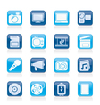 Multimedia and technology Icons vector image