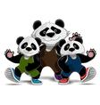 Family of pandas vector image
