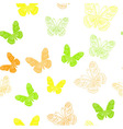 Seamless pattern made of butterflies vector image