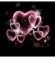 design of pink hearts vector image