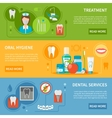 Dental Care Banners Set vector image