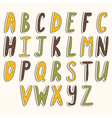 ABC cute alphabet vector image