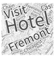 Cheapest Hotels in Las Vegas Word Cloud Concept vector image