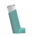 Inhaler for asthma and other respiratory diseases vector image