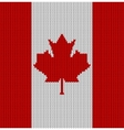 Knitted flag of Canada vector image