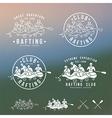Rafting club emblem and design elements vector image