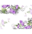 Delicate flowers background vector image vector image