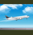 passenger airliner takeoff realistic poster vector image