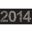 Happy new 2014 year made of many stars vector image