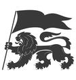 Heraldic lion33 vector image vector image